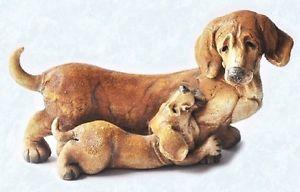 【送料無料】猫 ネコ キャット 置物 ダックスフントタイプscruff amp; puss figurine 4248 dachshund type dog with puppy