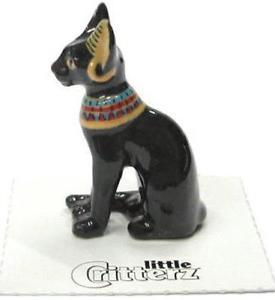 【送料無料】猫 ネコ キャット 置物 ミニチュアエジプト#バステト#little critterz miniature porcelain animal figure egyptian cat 034;bastet034; lc611