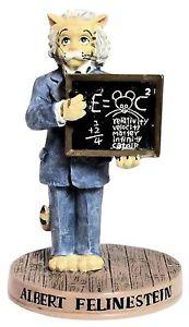 【送料無料】猫 ネコ キャット 置物 アルバートグッズホール#ertl collectibles cat hall of fame albert felinestein figurine 4034; tall