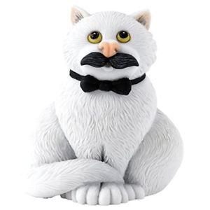 【送料無料】猫 ネコ キャット 置物 コミックcomic and curious cats movember figurine