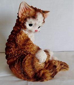 【送料無料】猫 ネコ キャット 置物 キャラコ#ボックスネコcalico cuddly resin 8034; kitten figurine 1998 artmark in box