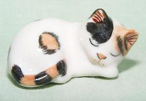 【送料無料】猫 ネコ キャット 置物 ミニチュアklima miniature porcelain animal figure cat sleeping e754