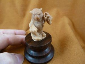 【送料無料】猫 ネコ キャット 置物 マウスナットパームバリtbcat1 cat playing with mouse tagua nut palm figurine bali detailed carving