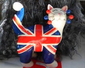 【送料無料】猫 ネコ キャット 置物 クラシックチャールズ#ユニオンジャック