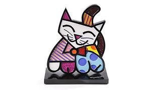 【送料無料】猫 ネコ キャット 置物 ロメロブリットタグromero britto cat figure 2d figurine  with tag