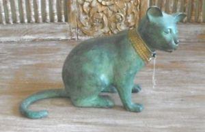 【送料無料】猫 ネコ キャット 置物 ブロンズシャムタイスタンプantique verdigris bronze siamese cat thailand stamp animal figurine