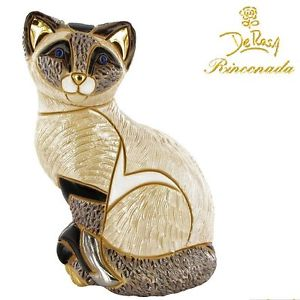 【送料無料】猫 ネコ キャット 置物 デローザシャムde rosa rinconada cat siamese cat f122
