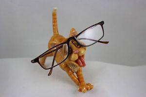 【送料無料】猫 ネコ キャット 置物 ホルダジンジャーoptipets optipaws cat eyeglass holder ginger tabby cat