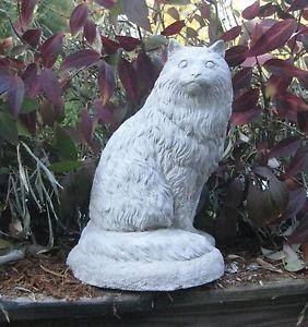 【送料無料】猫 ネコ キャット 置物 ペルシャconcrete persian cat statue