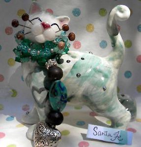 【送料無料】猫 ネコ キャット 置物 #サンタフェ#034;santa fe034; whimsiclay cat