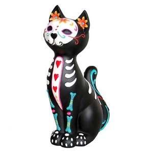 【送料無料】猫 ネコ キャット 置物 ボックスnemesis now sugar puss 26cm day of the dead cat figurine boxed d1277d5