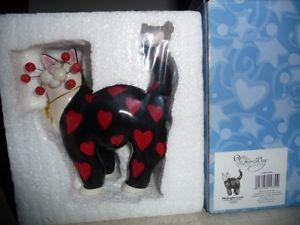 【送料無料】猫 ネコ キャット 置物 whimsiclay039;love039;whimsiclay cat 039;midnight love039;