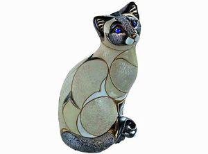 【送料無料】猫 ネコ キャット 置物 デローザシャムボックスde rosa siamese cat figurine in gift box 26845