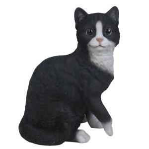【送料無料】猫 ネコ キャット 置物 ガラスライフサイズ