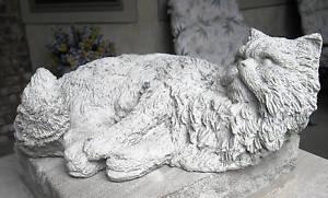 【送料無料】猫 ネコ キャット 置物 life size solid concrete cat statuememorialgrave markerlife size solid concrete cat statue memorial grave marker