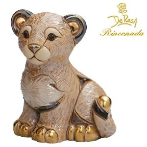 【送料無料】猫 ネコ キャット 置物 デローザライオンde rosa rinconada lion cub f316