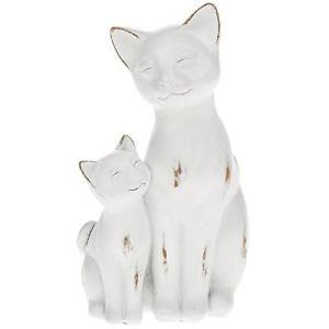 【送料無料】猫 ネコ キャット 置物 オーナメントwhite cat figurine ornament cat amp; kitten 65595