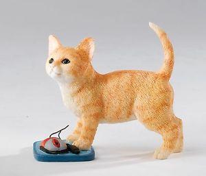 【送料無料】猫 ネコ キャット 置物 ボックスネコマウスフィギュアcountry artists kitten with mouse figurine in box