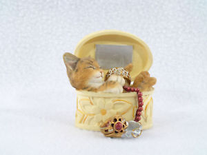 【送料無料】猫 ネコ キャット 置物 リングネコネコnib kittens country artists lord of the rings, kitten sitting in jewelry 03154