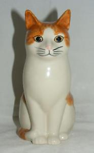 【送料無料】猫 ネコ キャット 置物 ウズラ#スカッシュ#;#quail ceramics animal figure moggie cat 034;squash034; 6034;