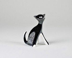 【送料無料】猫 ネコ キャット 置物 cmielow porcelain kitten sitting