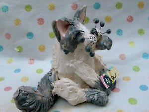 【送料無料】猫 ネコ キャット 置物 ##ハンドメイドラグドールエイミーラコンブ034;nia034; oneofakind handmade whimsiclay ragdoll kitten, by amy lacombe