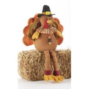 【送料無料】猫 ネコ キャット 置物 トルコインチ delton 10x18 inches sitting turkey with bells