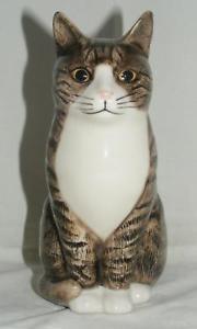 【送料無料】猫 ネコ キャット 置物 ウズラ##;#quail ceramics animal figure moggie cat 034;millie034; 6034; 875