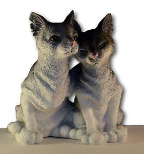 【送料無料】猫 ネコ キャット 置物 decorative cat lovers figurine