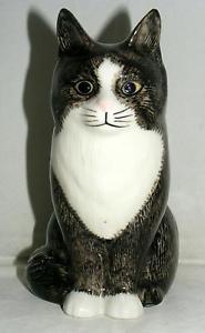 【送料無料】猫 ネコ キャット 置物 ウズラ#オリバー#;#quail ceramics animal figure moggie cat 034;oliver034; 6034; 897