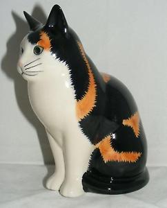 【送料無料】猫 ネコ キャット 置物 ウズラ##;#quail ceramics animal figure moggie cat 034;eleanor034; 6034; 742