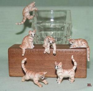 【送料無料】猫 ネコ キャット 置物 ミニチュアジンジャーklima miniature porcelain animals set of 6 ginger tabby kittens 1 k181