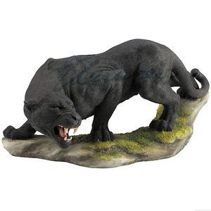 【送料無料】猫 ネコ キャット 置物 ブラックパンサーミニチュア#ボックス