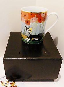 【送料無料】猫 ネコ キャット 置物 ゲーベルマグカップネロgoebel  wachtmeister cats porcelain mug 034; nero 034; nib