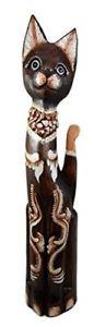 【送料無料】猫 ネコ キャット 置物 ハンドメイド#ナガ#ドラゴンbalikraft hand made wood artisans 034;kucing naga034; large sculpture abstract dragon
