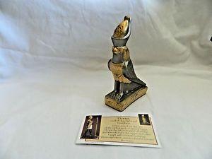 【送料無料】猫 ネコ キャット 置物 エジプトホルスゴールドシルバー##1 egyptian horus gold silver resin stone statue 525034; 105