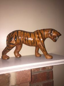 【送料無料】猫 ネコ キャット 置物 ストライプベンガルタイガーcollectible display zoo animal stripe bengal tiger lifelike 8 tall 16 wide