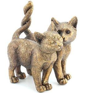 【送料無料】猫 ネコ キャット 置物 ツインreflections bronzed twin cats standing figurine