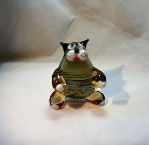 【送料無料】猫 ネコ キャット 置物 アートガラスムラノガラス#art blown glass murano figurine glass cat figurine 3