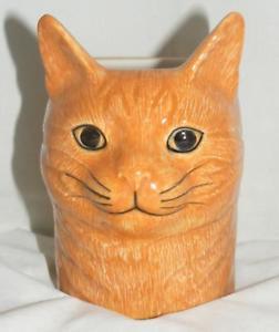 【送料無料】猫 ネコ キャット 置物 ウズラセラミックスペンシルポットヴィンセント#quail ceramics moggy cat pencil pot 034;vincent034; 960