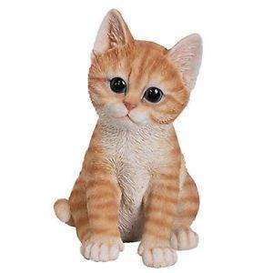 【送料無料】猫 ネコ キャット 置物 オレンジネコリアルディテール#lively orange tabby kitten collectible figurine realistic detail 8034;h resin decor