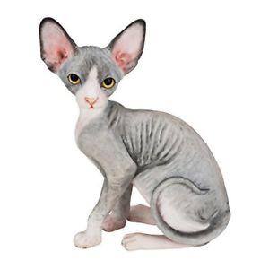 【送料無料】猫 ネコ キャット 置物 #ユニークhand painted statue 41034;sphynx cat unique animal figurine collectible home decor