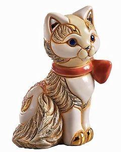 特別セーフ 【送料無料】猫 ネコ キャット 置物 デローザボックスリボンネコde rosa rosa with kitten kitten with ribbon figurine f372 in gift box 26832, ATABAh:96154d20 --- canoncity.azurewebsites.net