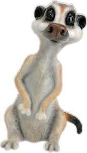 【送料無料】猫 ネコ キャット 置物 トスカlittle paws tosca the meerkat figurine lps45