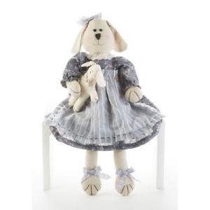 【送料無料】猫 ネコ キャット 置物 インチ delton 18 inches sitting dog with pup, blue