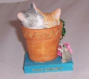 【送料無料】猫 ネコ キャット 置物 アーティストcountry artists kitten tales twos company