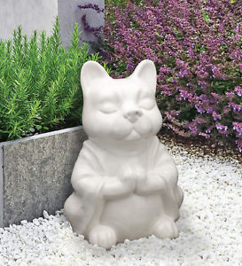 【送料無料】猫 ネコ キャット 置物 ヨガcat buddha zen yoga meditating porcelain figurine statue,13039;039;h