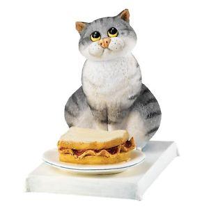 【送料無料】猫 ネコ キャット 置物 コミックベーコンcomic and curious cats bacon butty figurine
