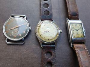【送料無料】腕時計 ウォッチロットビンテージアールデコジュネーブワイラーlot 3 montres vintage ancienne art dco cyma titus geneve ww2 wyler vetta