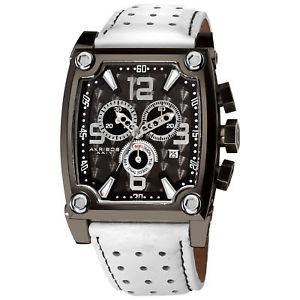 【送料無料】腕時計 ウォッチスイスクロノグラフホワイトレザーウォッチ mens akribos xxiv ak415wt swiss chronograph daydate white leather watch